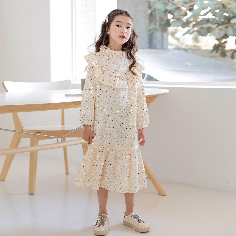 Image 5 - new 2020 baby princess dress girl Spring dress children cute dress kids dress for girls leisure toddler dot dress cotton,#5092Dresses   -
