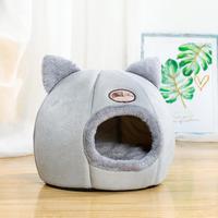 Cat nest dog nest semi-closed warm winter plus velvet deep sleep pet nest kitten nest