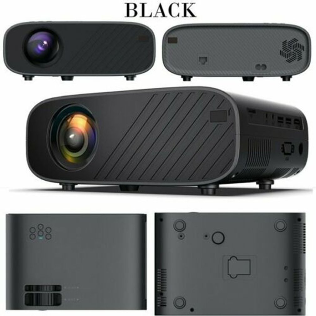 4K 1080P Hd Wifi 3D Led Mini Video Theatre Projector Home Cinema 18000 Lumens With Infrared Remote Control Function image