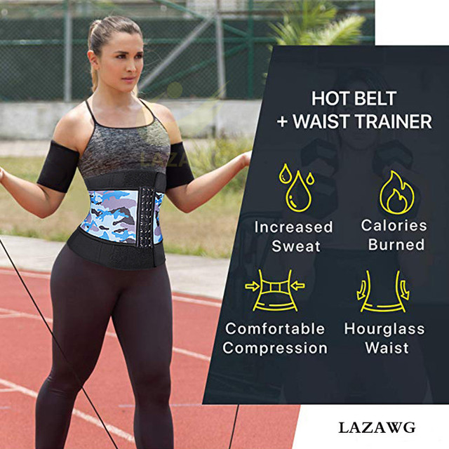 LAZAWG Neoprene Sauna Waist Trainer Corset Sweat Belt for Women Weight Loss Compression Trimmer Workout Fitness Hot Thermo Girdl 4