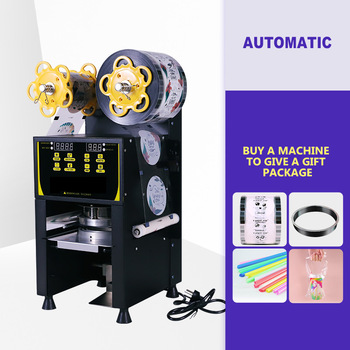 Commercial Sealer Semi-automo Cup Sealing Machine 95mm/90mm Bubble Tea Coffee Packing Sealer Pressure Paper Cup Lid Machine xeoleo commerical cup sealer automatic cup sealing machine for pp pe paper pc bubble tea machine suitable 70 75 88 90 95mm