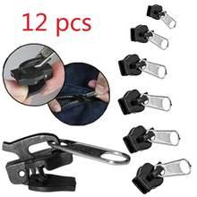 12/6 pçs 3 tamanhos universal kit de reparo instantâneo com zíper substituição zip slider dentes resgate novo design zíperes costura roupas