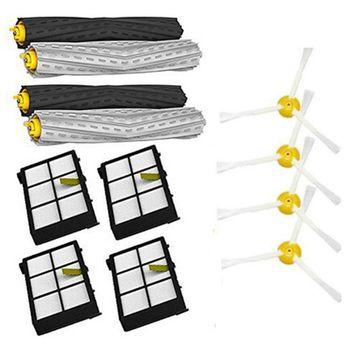 Filtro HEPA para irobot roomba kit de reemplazo de cepillo lateral para irobot roomba serie 800 870 880 980, para serie 800 900