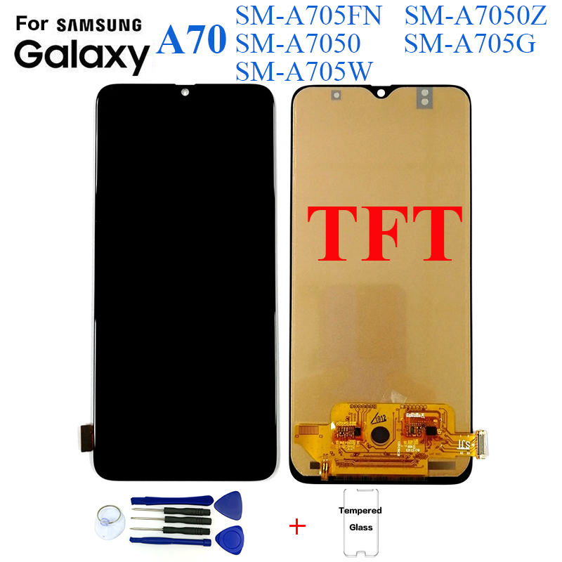 TFT For <font><b>Samsung</b></font> <font><b>A70</b></font> A705 SM-A705FN A705G Display <font><b>lcd</b></font> Screen replacement for <font><b>Samsung</b></font> <font><b>A70</b></font> A7050 A705FN display <font><b>lcd</b></font> screen module image
