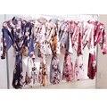 Атласный халат, халат для невесты, халат для подружки невесты, цветочный халат для девочки, короткая однотонная Пижама для сна, A2350