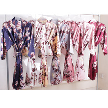 satin robe,Bride robe, Bridesmaid Robes, Flower girl robe,short Solid night sleeping pajamas A2350