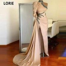 Lorie арабские вечерние платья с высокой горловиной бисером