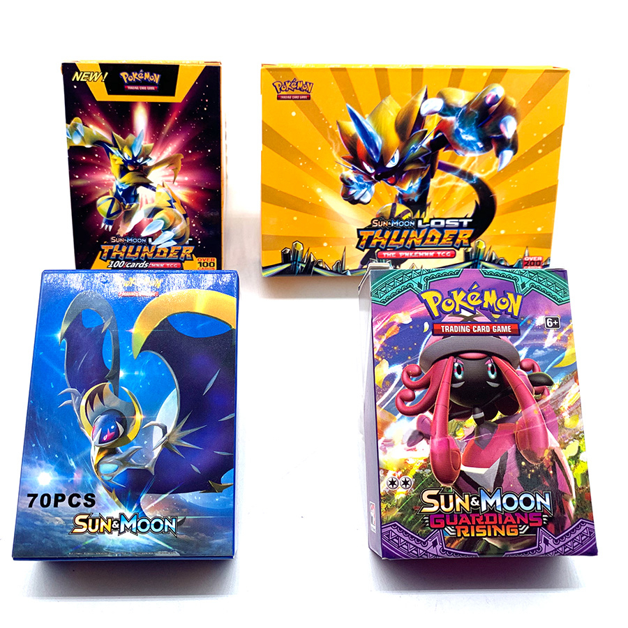 Anime 200pcs Pokemon Card 2019 Pet Elf Battle Card GX Pocket Monster Game Collection Children's Gifts For Christmas