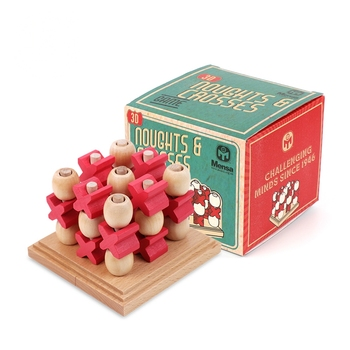 the mensa noughts and crosses board game with its box