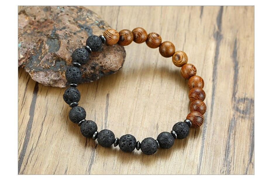 Hdbfdce07cec34a6d9660c4e2903ded09I - Wood & Lava Stone Bracelet