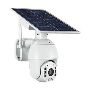 Sistema de cámaras de seguridad inalámbrico con batería, 1080P, 4G, tarjeta SIM, p2p, vigilancia Solar, cámara IP PTZ con Panel Solar PIR