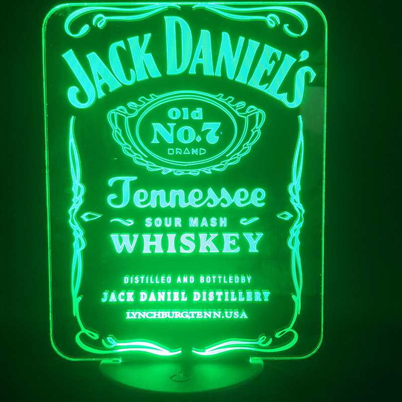 3D Lamp Foreign Wine Jack Daniel's Touch Sensor Best Present For Adult For Birthday Decoration Dropship Led Night Light Lamp