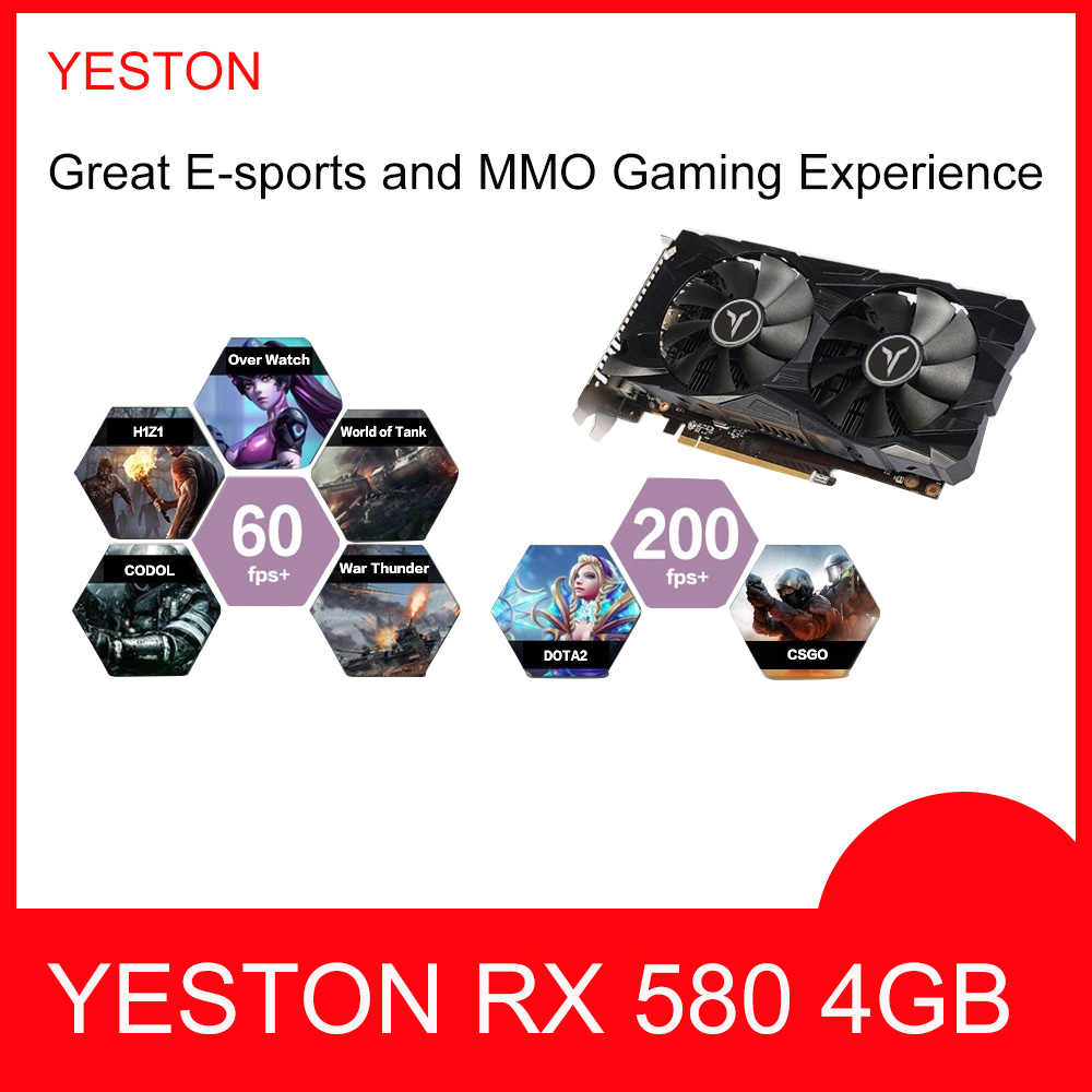 RX 580 4 ギガバイト · ゲーム用グラフィックスカード GPU RX580 ゲーム 4 グラムビデオカードビデオカード地図外部グラフィックスカード 128bit ため deskpot