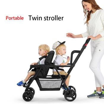 2020 nowe lekkie podwójne wózki dziecięce mogą siedzieć rozkładane wózki dziecięce podwójne siedzenia wózki wózki dla dzieci 0-7 Y tanie i dobre opinie CN (pochodzenie) 50 kg Numer certyfikatu 0-3 M 4-6 M 7-9 M 10-12 M 13-18 M 19-24 M 2-3Y 4-6y 2013012201598171 0-6 years old
