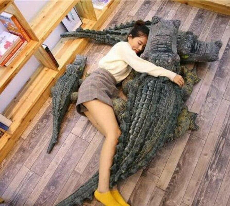 Spoof Simulation Big Crocodile Doll Plush Toy Birthday Gift Stuffed Crocodile Toys
