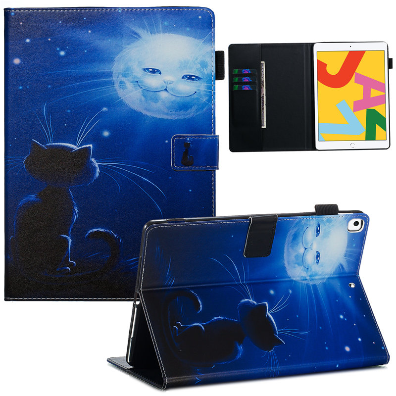 09 Beige Cute Flip Stand Case For iPad 10 2 Case 2019 Smart Tablet Cover For iPad 10
