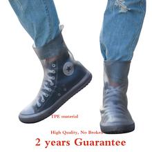 Najwyższa jakość kobiety mężczyzna TPE integralna forma wodoodporna wielokrotnego użytku wysoka nakładka przeciwdeszczowa na buty kalosze antypoślizgowe pyłoszczelne pokrowce na buty tanie tanio wenjie brother Buty covers Stałe 958 988 waterproof