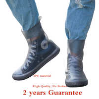 Top quality Women Man TPE Integral Mould Waterproof Reusable high Rain Shoe Cover Rain Boot Anti-skid dustproof Shoes Covers
