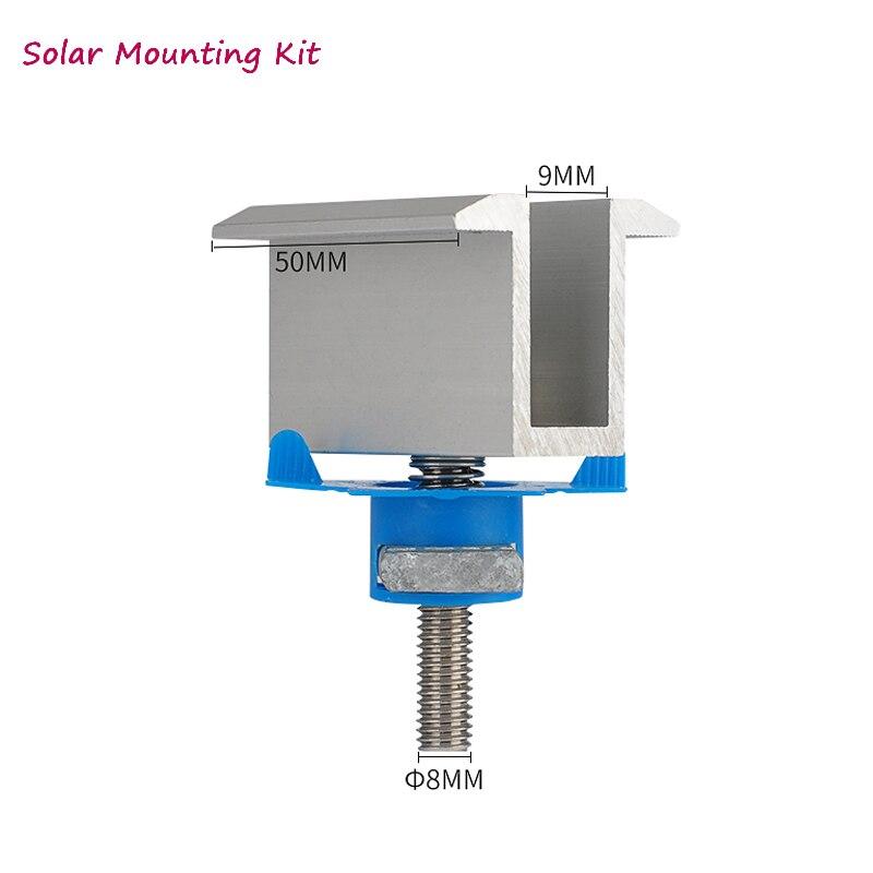 10Pcs Aluminum Solar Panel Mounting Brackets-Mid Clamp for Framed Panels