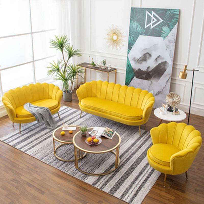living room Sofa Home furniture modern minimalist sofa chairs Light luxury single sofas Nordic lazy small apartment Armchair