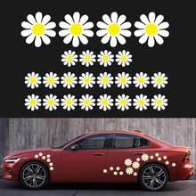 Autocollants de voiture personnalisés en forme de marguerite et de fleur, en PVC, pratiques et magnifiques, autocollants décoratifs, vente en gros, livraison rapide CSV, 48 pièces