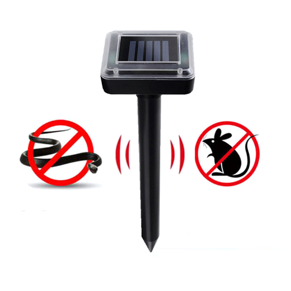 Solar Ultrasonic Electronic Mouse Repeller Snake Repeller High Power Hotel Garden Farm