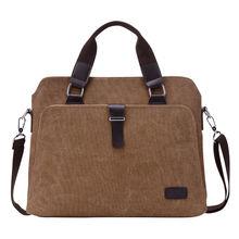 Портфель мужской холщовый в винтажном стиле сумка мессенджер