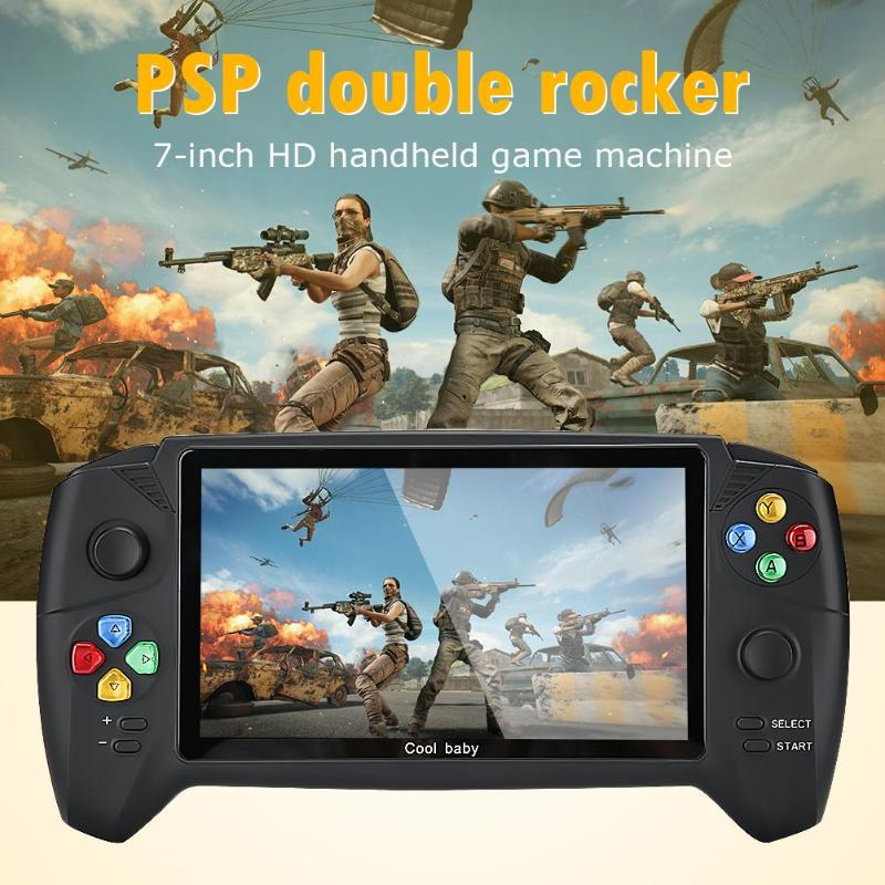 Handheld Game Players Solid Color 7.0 inch Dual Rockers Durable for PSP GBA NES FC Retro Game Console Built in 3000 Games Newest