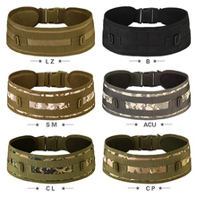 Outdoor Military Hunting Accessories MOLLE Seat Belt Tactical Belt 600d military tactical molle unisex clay dragon tactical belt durable canvas hunting material outdoor utility accessories