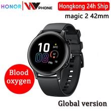 รุ่นทั่วโลกเกียรตินาฬิกาเมจิก 2 42 มิลลิเมตรเมจิกนาฬิกา 2 ดูสมาร์ทเลือดออกซิเจนติดตามอัตราการเต้นหัวใจสำหรับAndroid IOS