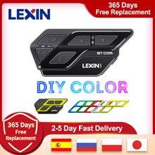 Lexin ET Com V5.0 Intercomunicador Bluetooth de motocicleta casco auricular Multicolor FM inalámbrico BT Intercomunicador Moto 1200M 2 jinetes