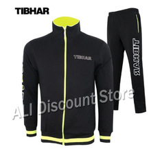 Genuine TIBHAR New Winter Jacket Training Suit with Trousers Table Tennis Jerseys Ping Pong Cloth Sportswear Sweater