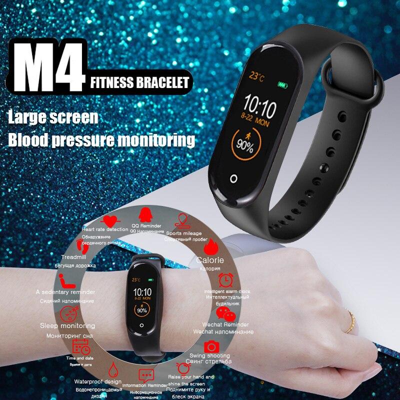 2019 nuevo reloj inteligente pulsera deportiva para hombres y mujeres Cámara Bluetooth ritmo cardíaco presión arterial Monitor de sueño podómetro banda