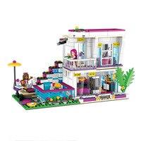 2019 Girl Friends Fairy Princess City Girls Doll Livi's Pop Star House Model Building Blocks Bricks Kids Toys Juguetes Xmas Gift