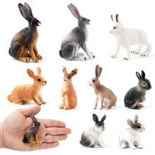 Моделирование Симпатичные Маленькие Кролики Модели Игрушки Моделирование Мини Кролик Действие Фигурка Украшение Фигурки Для Детей Образование Рождество Подарки