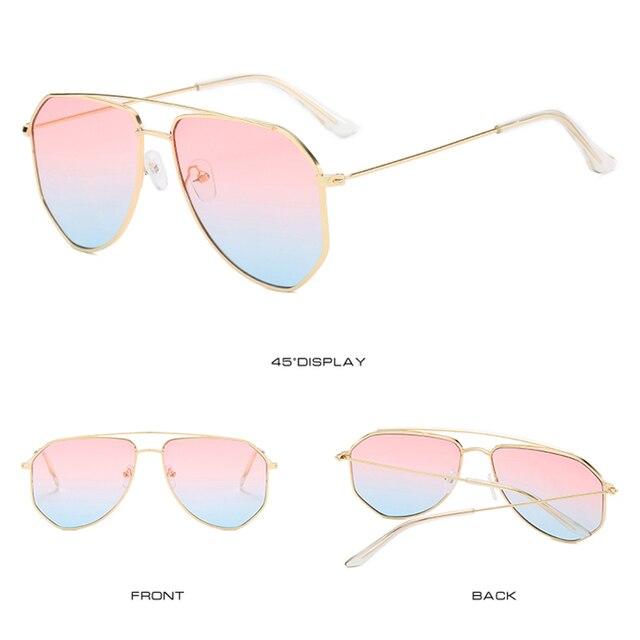 Фото классические солнцезащитные очки авиаторы yameize в металлической