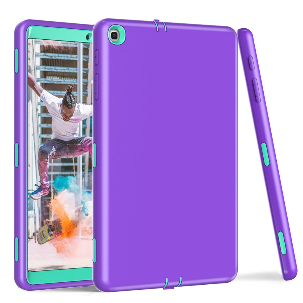 Tablet Case For Samsung Galaxy Tab A SM-T510/T515 10.1Inch Slim Shockproof Stand Solid Color PU Leather Protective Cover Case