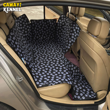 CAWAYI KENNEL Dog Carriers Waterproof Rear Back Pet Dog Car Seat Cover Mats Hammock Protector with Safety Belt Transportin Perro 4