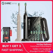 ShineSense STB600 cepillo de dientes eléctrico, sonic, Xiaomi Mijia Sónico cepillo electrico dientes, IPX7 impermeable, usb recargable, 5 modos de, con bolsa de viaje, cabezal de cepillo recambiable