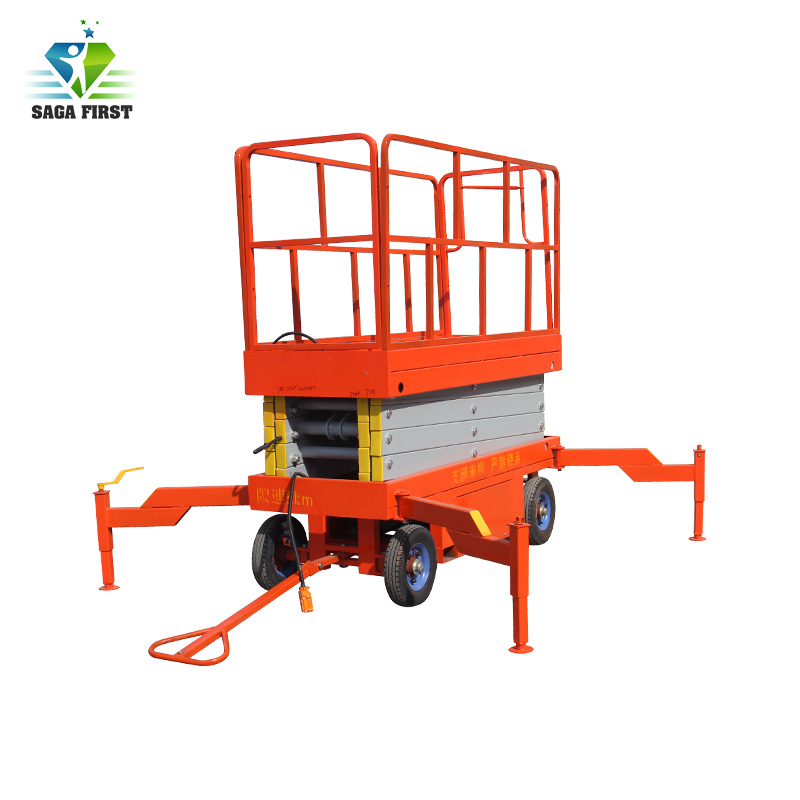 10m 500kg Capacity Full Electric Hydraulic Scissor Lift With CE ROHS Certificate