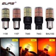 1pcs 3014 144smd Canbus S25 1156 P21W BA15S LED BAY15D BAU15S PY21W T20 LED 7440 7443 W21W 1157 led Bulbs For Turn Signal Light