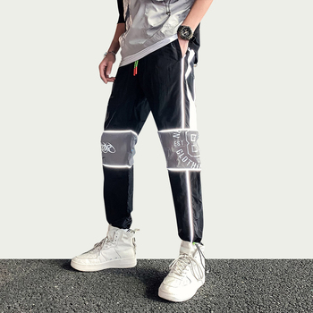 iiDossan Reflective Streetwear Cargo Pants Mens Summer HipHop Joggers Trousers Women Japanese Harajuku Overalls 2020 Drop Ship