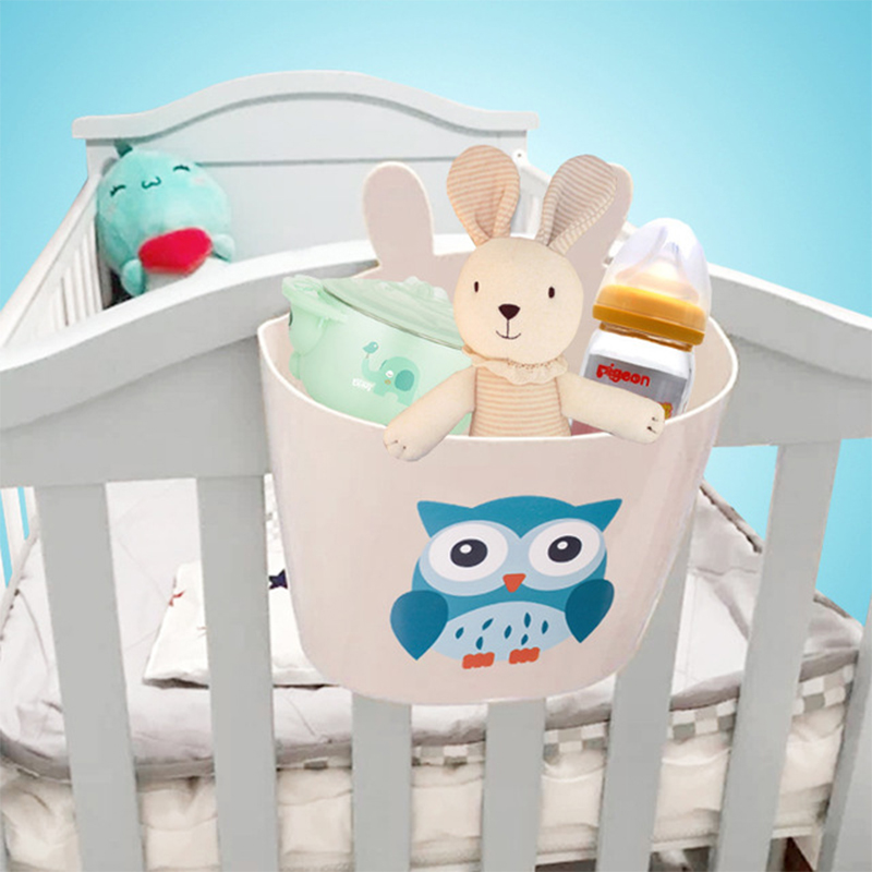 Plastic Bed Hanger Storage Bag Safe PP Box For Toys Diaper Organizer Bag PP Waterproof Bath Toy Organizer Bag Baby Bedding