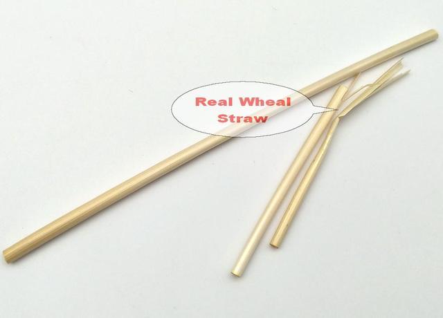 соломинки пшеничные одноразовые 1000 биоразлагаемые 100% шт фотография