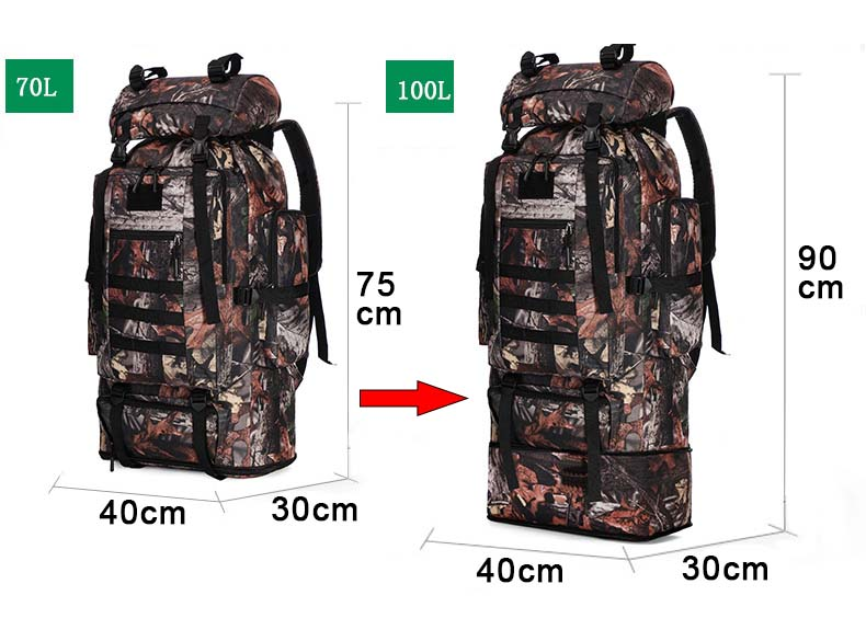 XL Tactical Backpack Measurements