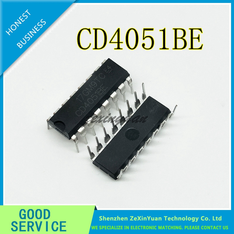 10PCS/LOT CD4051BE CD4051 4051 DIP-16 CHIP CMOS LOGIC DEVICE