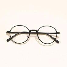 HOTOCHKI New Men and Women Oval Flat Eyeglasses Lightweight Plastic Steel Spectacles Frames Spring Spectacle Frame