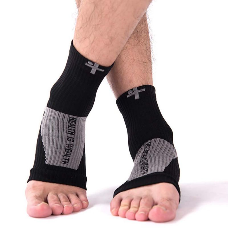 Sports Socks Ankle Compression Foot Angel Heel Pain Relief Sleeve Arch Support Y8