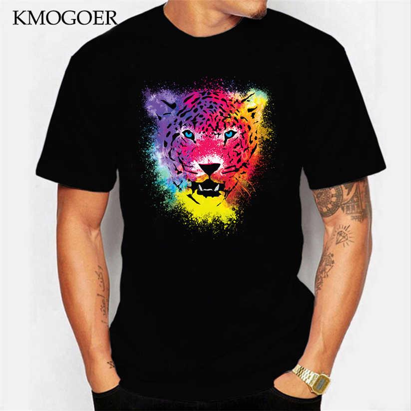 Ropa casual de marca para hombre y mujer, ropa nueva, camiseta a la moda, Camisetas Pop Tiger coloridas, Camisetas estampadas