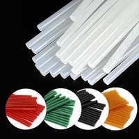 30 PCS/Lot Hot Melt Glue Sticks Transparent Black Green Hot Glue Stick 7mm-11mm High Adhesion for Glue Gun Colorful Glue Sticks